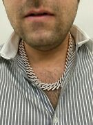 14kt Rose Gold Diamond Prong Set Miami Cuban Chain Necklace 63.5 Cts. 22andrdquo Inch