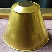 Vtg Ny Library Style Table Lamp Shade Only Deco Farmhouse Mcm Gold Brass Metal