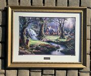 Thomas Kinkade Snow White Discovers The Cottage Hand Signed Limited Edition