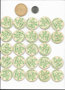 25 Staley's Three Pines Milk Bottle Caps Deruyter Ny Tops Dairy Farms Cow Cream
