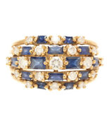 Ring K18 Sapphire 1.72ct Diamond 0.813ct Womenand039s Size Size No. 16 Ring