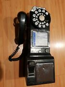 Vintage 3 Slot Rotary Pay Phone Bell System Western Electric Not Working.