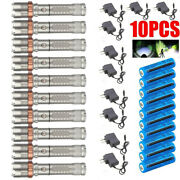 10x Led Focus Flashlight T6 Tactical Rechargeable Torch+battery+charger 900000lm