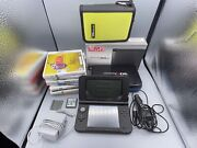 Nintendo 3ds Xl Spr-001 4gb Black System W/ 8 Games, Case, Box, And Chargers Zelda