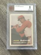 Frank Robinson 1957 Topps Rookie Card Rare Centered Bvg 8 Hall Of Fame