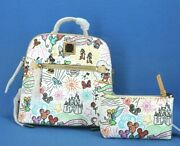Disney Dooney And Bourke Sketch Backpack Purse And Cosmetic Case Brand New