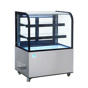 36 In. Curved Glass Stainless Steel Refrigerated Bakery Display Case