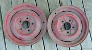 1940s Era Ford 16 Ford Smoothie Style Wheels Hot Rod Patina Coupe Sedan 16x4.5