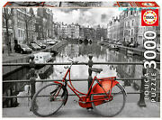 Educa Amsterdam Holland Bike Scenery 3000 Piece Adult Decompression Puzzles Toys