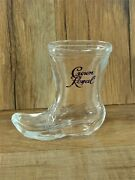Crown Royal Whiskey Glass Cowboy Western Boot 3 In. Tall Shot Glass