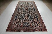 Antique Tribal Area Rug 5x10 Navy Blue Allover Oriental Carpet 10and039 5 X 5and039 2