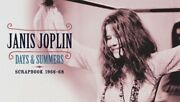 Janis Joplin-days And Summers-genesis Publications-deluxe-sold Out-new-122/350