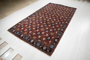 Large Tribal Soft Red Area Rug 5 X 10 Vintage Oriental Wool Carpet 9and039 6 X 5and039 2
