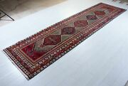 12and039 1 X 3and039 4 Antique Runner Rug Beige Geometric Low Pile Worn