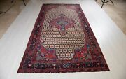 10and039 3 X 5and039 3 Hand-knotted Antique Brown Area Rug 5x10 Oriental Rustic Carpet