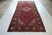 10and039 11 Andtimes 5and039 Antique Traditional Area Rug 5 X 11 Hand-knotted Red Worn Carpet