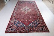 10'11x4'9 Collectible Vintage Rug Red Soft 5x10 Hand Knotted Oriental Carpet