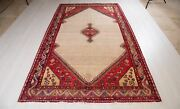 9' 3 X 5' 7 Hand-knotted Collectible Tribal Area Rug 5 X 9 Soft Beige Carpet