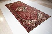 10and0396x4and03910 Semi Antique Tribal Area Rug 5 X 10 Low Pile Rustic Red Faded Carpet