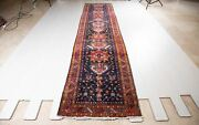 14and039 3x3and039 2 Collectible Runner Rug Navy Blue Geometric 14ft Long Hallway Carpet