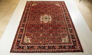 10and0391 X 7and0391 Hand-knotted Collectible Red Vintage Rug 7x10 Low Pile Worn Carpet