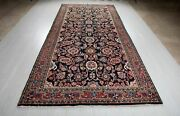 Collectible Vintage Tribal Area Rug 11and03910 X 5and0396 Navy Blue Soft Oriental Carpet