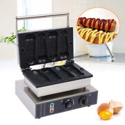 Commercial Nonstick Electric Hot Dog Waffle Maker Baker Machine 4 Grooves New
