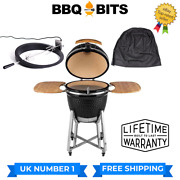 Kamado Bbq 21 Grill Rotisserie And Cover Smoker Ceramic Egg Charcoal Black