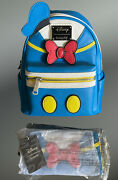 Loungefly Donald Duck Cosplay Mini Backpack And Wallet Set Nwt