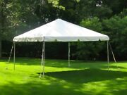 Allbright Tent Used 10x10 West Coast Frame Party Tent Canopy - White