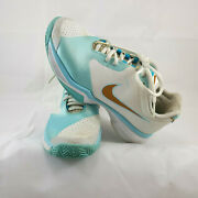 Nike Lunar Speed Womens 6.5 White Blue Running Training Athletic Shoes Fly Wire
