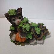 Calico Kittens Donand039t Be A Scaredy-cat 1999 Enesco Cat Figurine