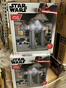 New Star Wars Disney At-at Giant Airblown Inflatable Christmas 8.5 Ft W/ Lights