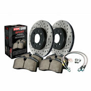 Stoptech For Bmw 330i Xdrive 2017 Axle Pack Rear Rotors + Pads Package