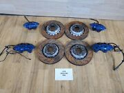 ✅ Oem Bmw F80 F83 F82 M3 M4 Front Rear Left Right Brake Calipers Set Brembo Blue