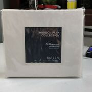Hudson Park 100 Pima Cotton 500tc Sateen Wrinkle-resistant Twin Xl Fitted Sheet