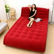 Portable Inflatable Bed Home Doubled Air Mattress Indoor Outdoor 91×59
