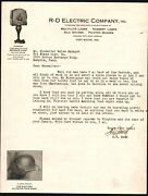 Fort Wayne In - R D Electric Co - Lamps Shades - G W Meek - Letter Head History