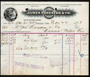 Dubuque Ia 1897james Forester And Co Clothing Manufacturer Vintage Letterhead Rare