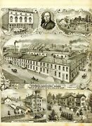 C1890 Broadside -- Richmond Agricultural Works - Indiana 14 In X 17 In - Genuine