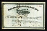 Jacksonville St Augustine And Halifax River Railway 1883 Florida Stock Certificate