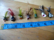 7 Vintage Fishing Fly Lure Frogs Poppers Nice Lures, Rods Reels And Deal