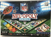 Nfl-opoly Junior- Family Game /collectorand039s Edition Set /nfl Monopoly
