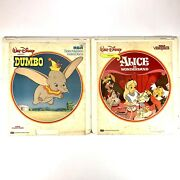 Dumbo And Alice In Wonderland Ced Video Disc Animated Movie Walt Disney Lot Of 2