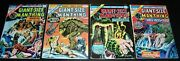 Giant Size Lot/4 Fnvf The Man-thing 2 3 4 5 Marvel 1974 Bagandboard