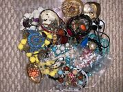 Big Lot 6 Of Assorted Vintage Costume Jewellery Necklace Bracelet Ring Earrings
