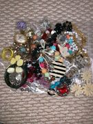Big Lot 7 Of Assorted Vintage Costume Jewellery Necklace Bracelet Ring Earrings