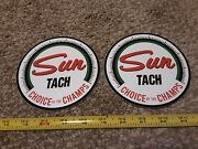 Lot Of 2 Vintage Style Sun Tach Racing Decals Stickers Nhra Hot Rod Rat Rod