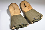 Us Gi Arctic Military Mittens Mitts Army Cold Weather Flyers Gloves Camo