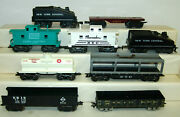 Marx O27 9 Piecs Freight Cars Tenders X-246 Pc Auto Carrier Erie Pacemaker Nyc